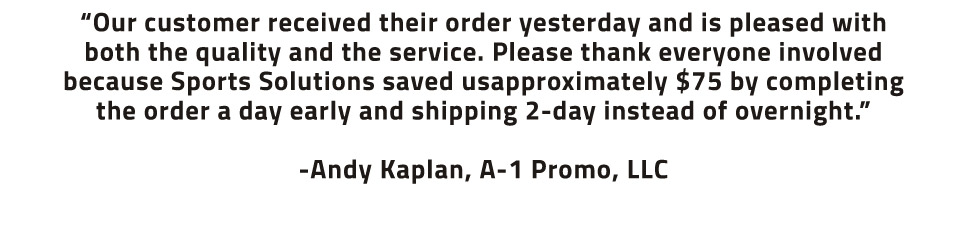 Promotional Products Testimonial